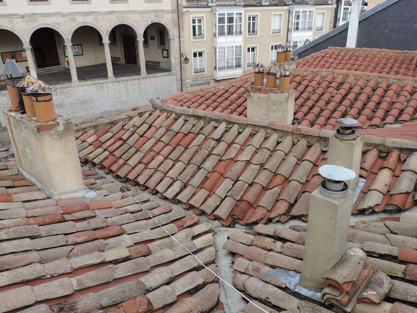 Reforma de tejados en Vitoria proyecto antes