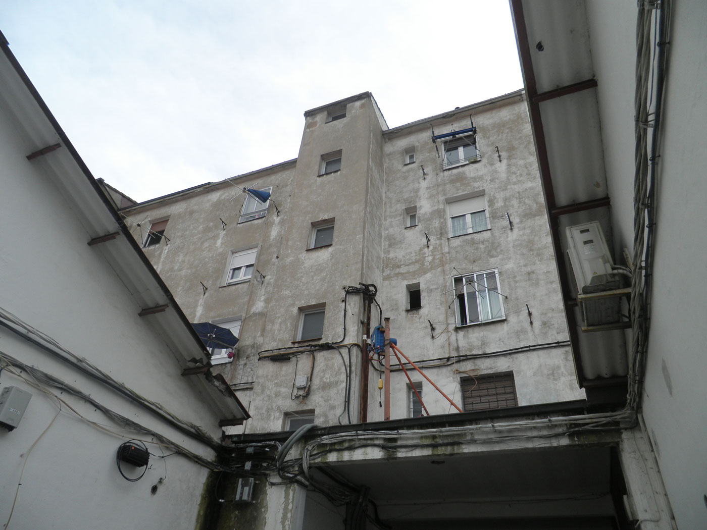 Reforma fachada exterior vitoria antes proyecto