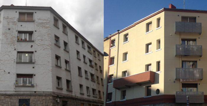 Rehabilitación de fachadas en Vitoria Gasteiz